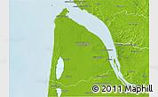 Physical 3D Map of Lesparre-Médoc
