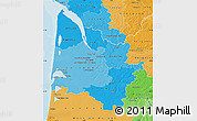 Political Shades Map of Gironde