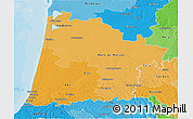 Political Shades 3D Map of Landes