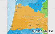 Political Shades Map of Landes