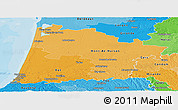 Political Shades Panoramic Map of Landes