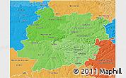 Political Shades 3D Map of Lot-et-Garonne