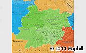 Political Shades Map of Lot-et-Garonne