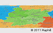 Political Shades Panoramic Map of Lot-et-Garonne