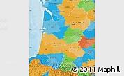 Political Map of Aquitaine