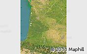 Satellite Map of Aquitaine