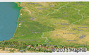 Satellite Panoramic Map of Aquitaine