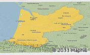 Savanna Style Panoramic Map of Aquitaine