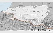 Gray 3D Map of Pyrénées-Atlantiques