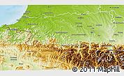 Physical 3D Map of Pyrénées-Atlantiques