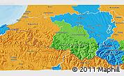 Political 3D Map of Pyrénées-Atlantiques