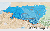 Political Shades 3D Map of Pyrénées-Atlantiques, lighten