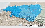 Political Shades 3D Map of Pyrénées-Atlantiques, lighten, semi-desaturated