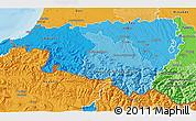 Political Shades 3D Map of Pyrénées-Atlantiques