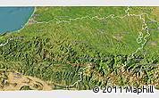 Satellite 3D Map of Pyrénées-Atlantiques