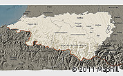 Shaded Relief 3D Map of Pyrénées-Atlantiques, darken