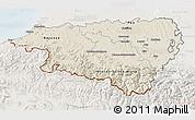 Shaded Relief 3D Map of Pyrénées-Atlantiques, lighten
