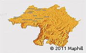 Political 3D Map of Bayonne, cropped outside