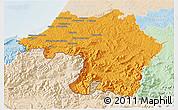 Political 3D Map of Bayonne, lighten