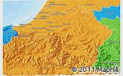 Political 3D Map of Bayonne