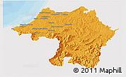 Political 3D Map of Bayonne, single color outside