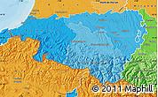 Political Shades Map of Pyrénées-Atlantiques