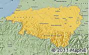 Savanna Style Map of Pyrénées-Atlantiques