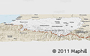 Classic Style Panoramic Map of Pyrénées-Atlantiques