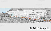 Gray Panoramic Map of Pyrénées-Atlantiques