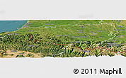 Satellite Panoramic Map of Pyrénées-Atlantiques