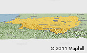 Savanna Style Panoramic Map of Pyrénées-Atlantiques