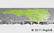 Physical Panoramic Map of Pau, desaturated