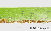 Physical Panoramic Map of Pau