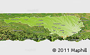 Physical Panoramic Map of Pau, satellite outside