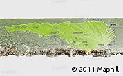 Physical Panoramic Map of Pau, semi-desaturated