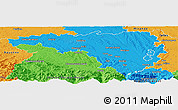 Political Panoramic Map of Pau