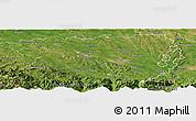 Satellite Panoramic Map of Pau