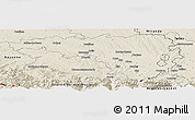 Shaded Relief Panoramic Map of Pau