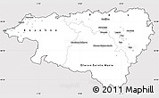 Silver Style Simple Map of Pyrénées-Atlantiques, cropped outside