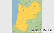 Savanna Style Simple Map of Aquitaine