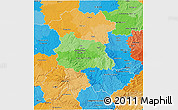 Political 3D Map of Auvergne