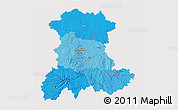 Political Shades 3D Map of Auvergne, cropped outside