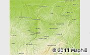 Physical 3D Map of Montluçon