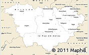 Classic Style Simple Map of Haute-Loire