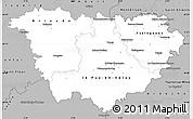 Gray Simple Map of Haute-Loire