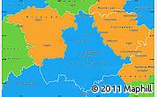 Political Simple Map of Haute-Loire
