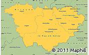 Savanna Style Simple Map of Haute-Loire