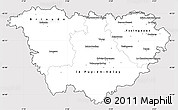 Silver Style Simple Map of Haute-Loire, cropped outside
