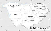 Silver Style Simple Map of Haute-Loire, single color outside