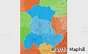 Political Shades Map of Auvergne